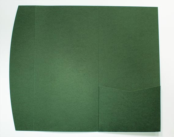 Dark green DLE pocketfold envelope