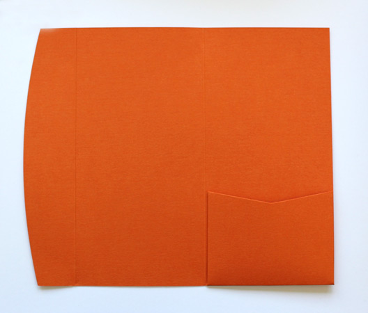 Orange DLE pocketfold envelope
