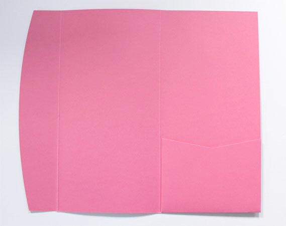 Light pink DLE pocketfold envelope
