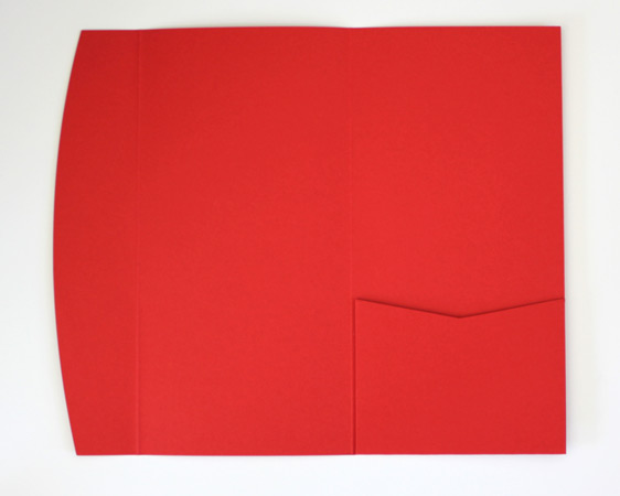 Red DLE pocketfold envelope