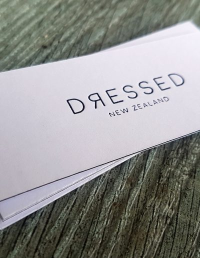 Swing tags printed for Dressed New Zealand