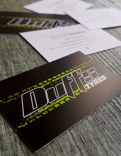 Logo and business cards put together by Pinc
