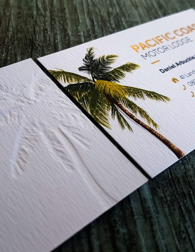 NZ embossed business cards