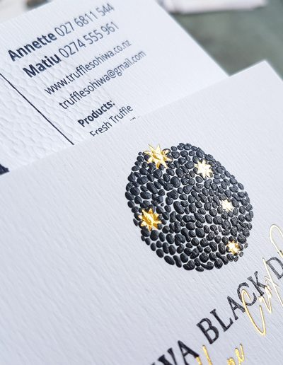 Embossed NZ business cards