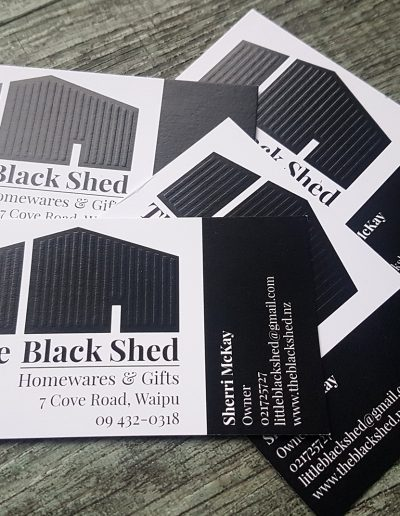Embossed pattern for The Black Shed business cards