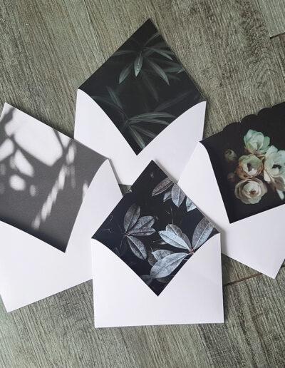 botanic floral envelope insides