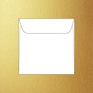 Metallic 15 cm square envelopes