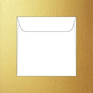 Metallic 16 cm square envelopes