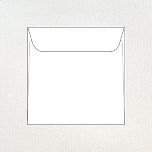 Textured 16 cm square envelopes