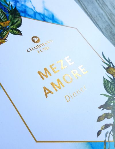 New Zealand functions, high quality event invitations with gold foil