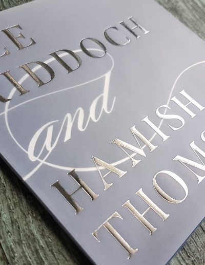 Beautiful foil design on vellum translucent paper, NZ wedding invitations
