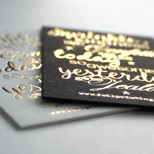 foil printed business cards NZ