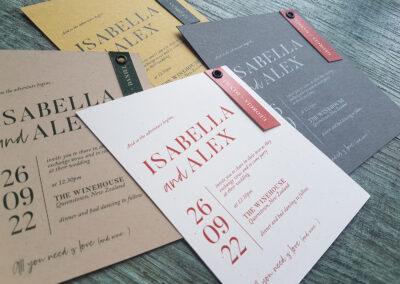 wedding invitations with eyelets