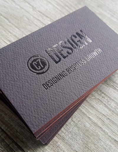 C7 Design Business Cards - gloss black foil