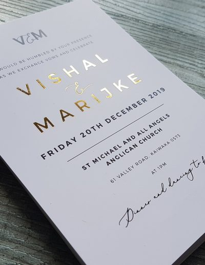 Simple, text based wedding invitation design