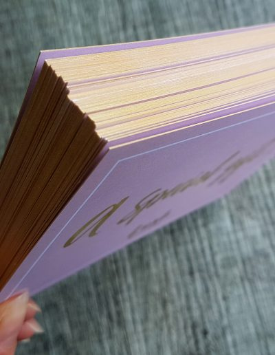 Gold edges on gift vouchers