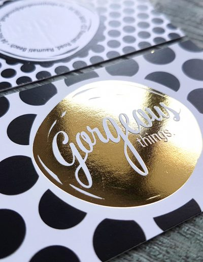 Gorgeous gold foil stamped business cards