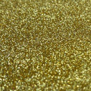 Gold A4 glitter card