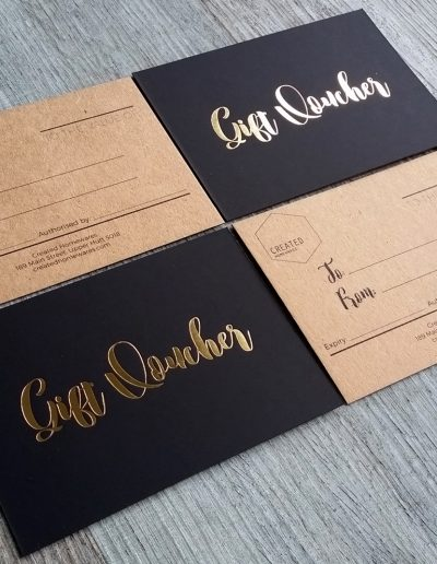 premium gift vouchers designed and printed