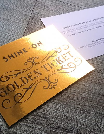 Golden Ticket design, NZ