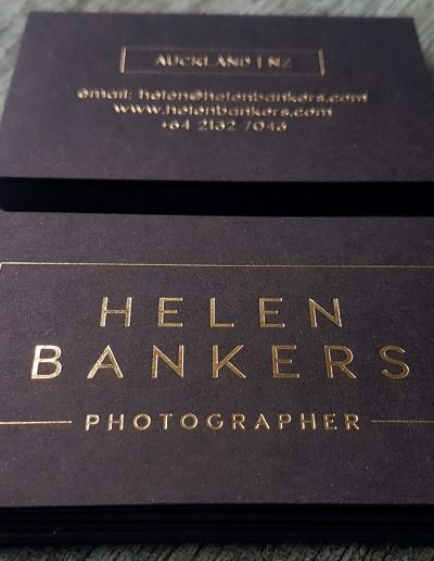 Helen Bankers Photography - classic gold on black cards