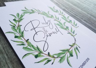 Wedding invitations NZ, Auckland printers