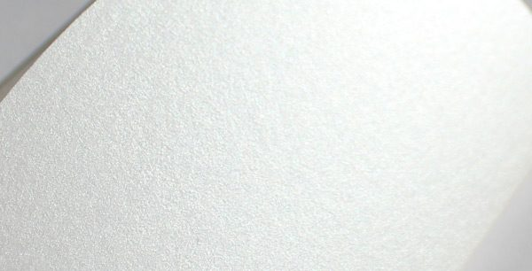 White metallic card close up
