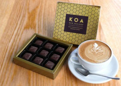 Koa Chocolates foil printed packaging