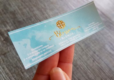 Label design and print by Pinc, watercolour with gold foil
