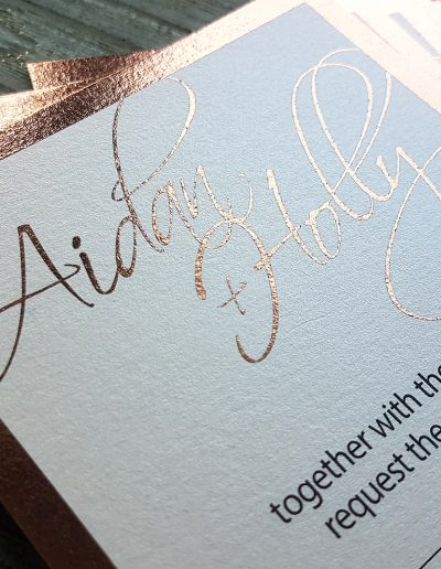 Laserfoiling for wedding invitations