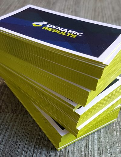 Edge painting to help your business cards stand out!