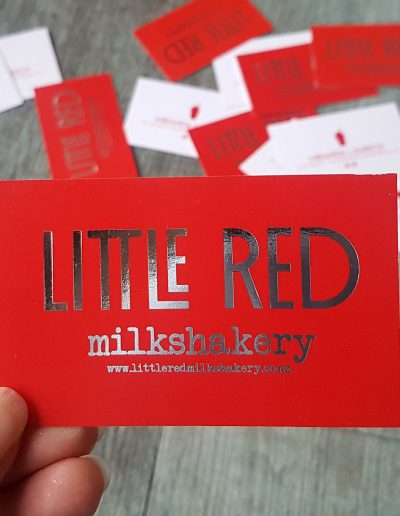 Appropriately bright red, for NZ business Little Red Milkshakery!