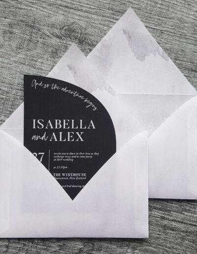marble envelope liner printed insides