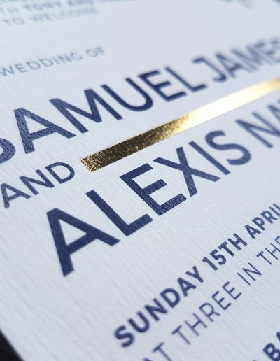 Designed and printed by Pinc, NZ wedding invitation specialists