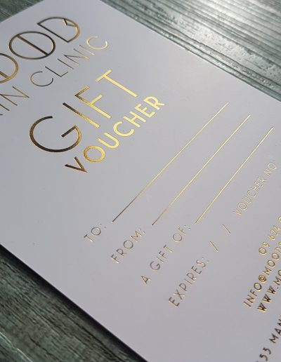 Quality gift vouchers for Mood Skin Clinic