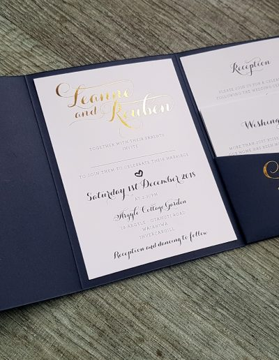A beautiful, modern script font used as the focus for these invitations