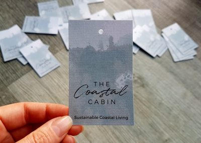 Swing tags for Auckland business, The Coastal Cabin