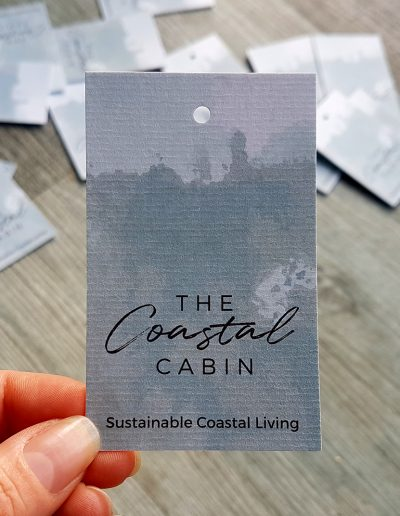 Swing Tags for NZ business, The Coastal Cabin
