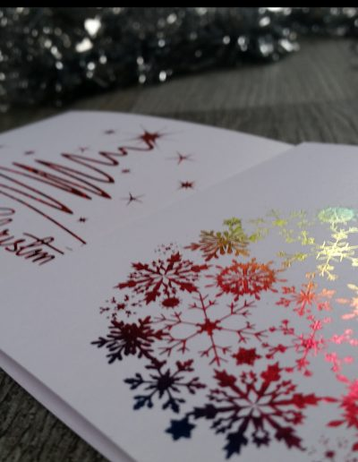 Custom, personalised Christmas cards designed and printed by Pinc