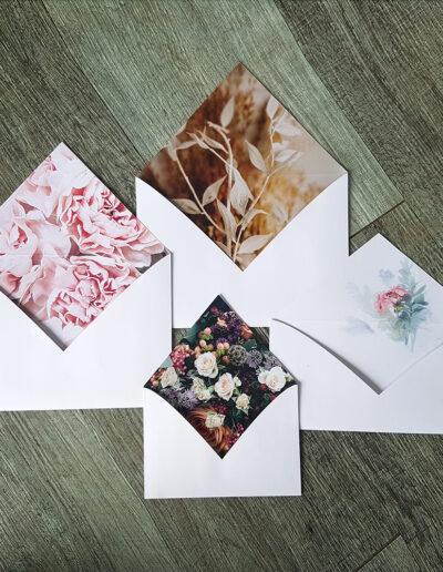 botanic envelope printed insides