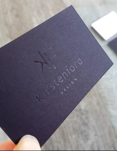 Gloss black foil stamp on ultra thick black business card