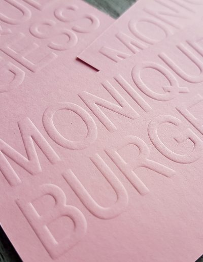 Embossing for raised print NZ
