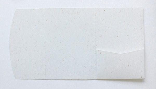 Recycled particles pocketfold envelope to fit A6 invitations