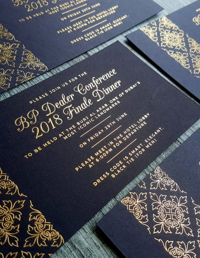 Regal event invitations designed and printed by Pinc