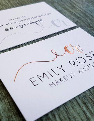 Rose gold foil on cards designed by Pinc