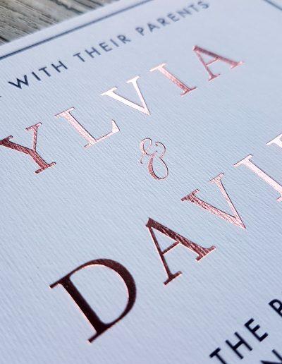 A simple, modern invitation design