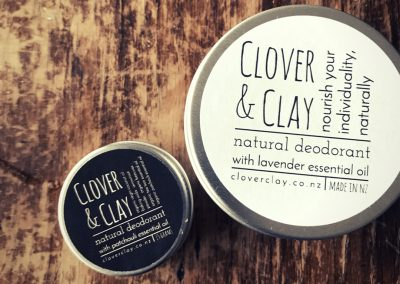 Product labels printed for Clover & Clay by Pinc