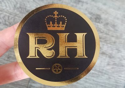 Gold stickers printed for NZ business The Royal Hotel