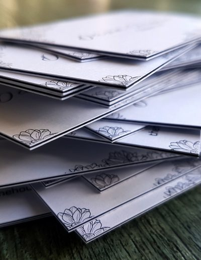 Ultra thick business cards created by New Zealand printing studio Pinc