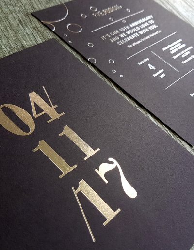 Premium black card with beautiful silver foil stamp